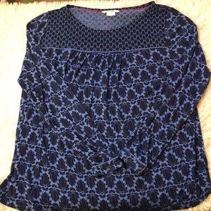 Boden flowy floral print blouse plus size